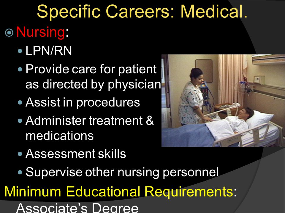 Specific Careers: Medical.