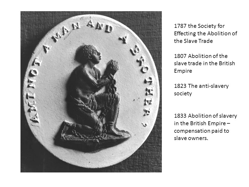 1787 the Society for Effecting the Abolition of the Slave Trade