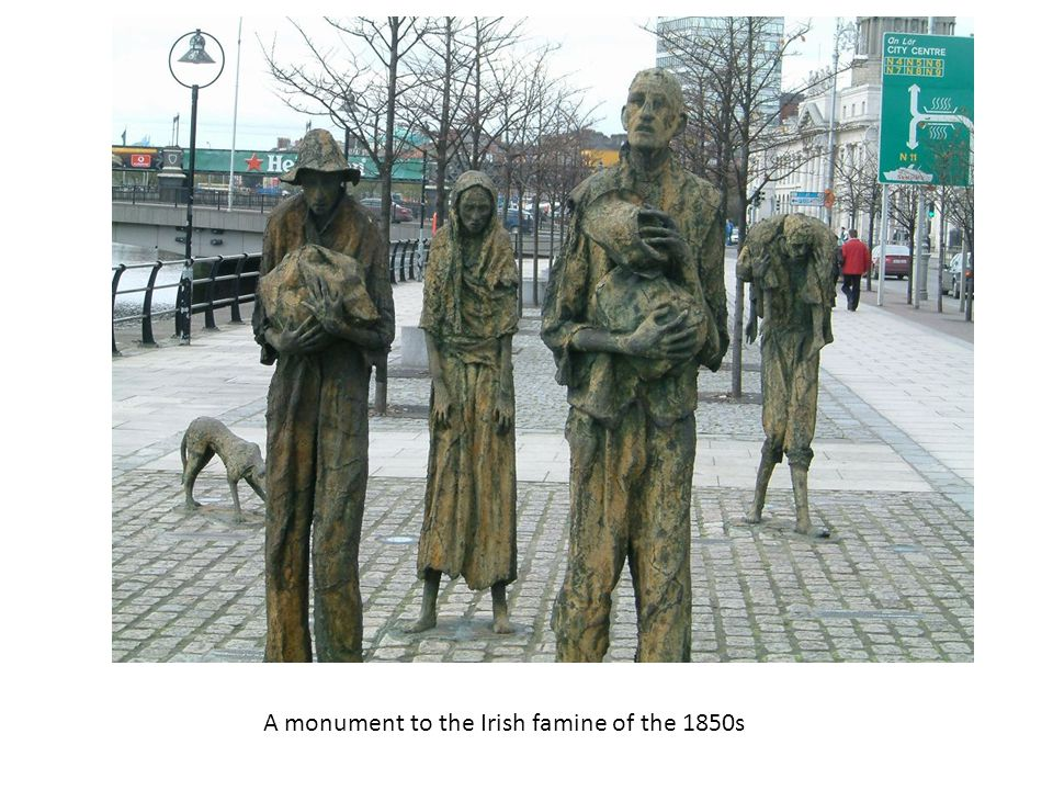 A monument to the Irish famine of the 1850s