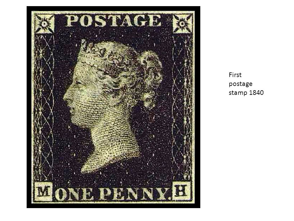 First postage stamp 1840