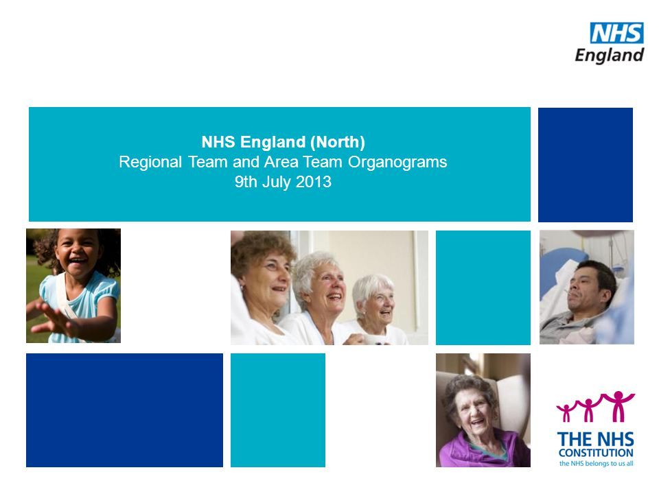 NHS England (North) Regional Team and Area Team Organograms 9th July 2013