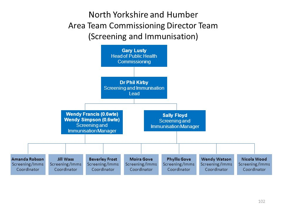 North Yorkshire and Humber Area Team Commissioning Director Team (Screening and Immunisation)