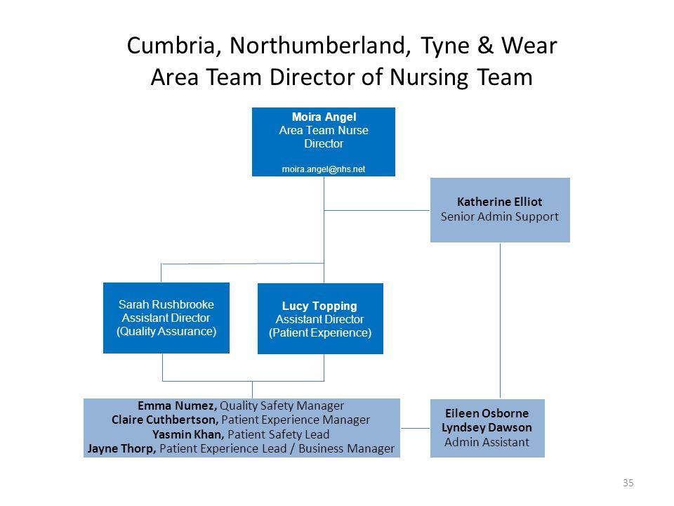 Cumbria, Northumberland, Tyne & Wear Area Team Director of Nursing Team