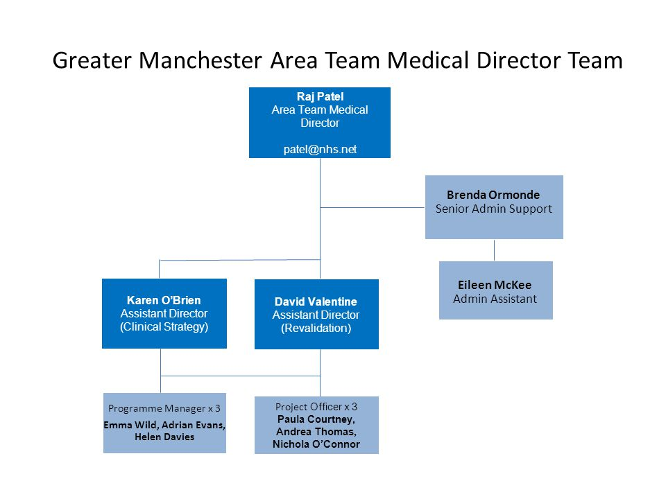 Greater Manchester Area Team Medical Director Team