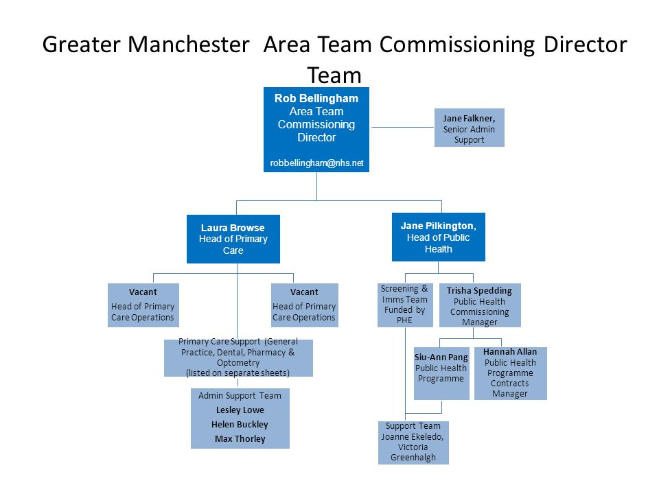 Greater Manchester Area Team Commissioning Director Team