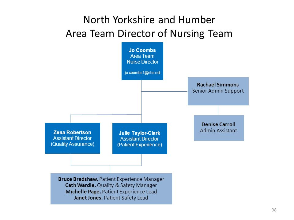 North Yorkshire and Humber Area Team Director of Nursing Team
