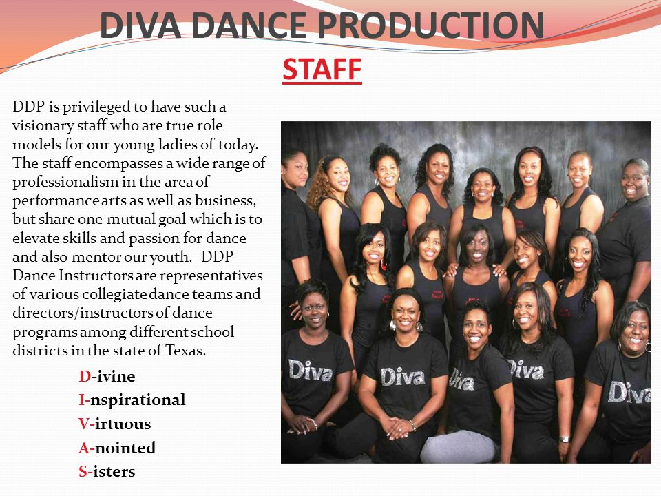 DIVA DANCE PRODUCTION STAFF