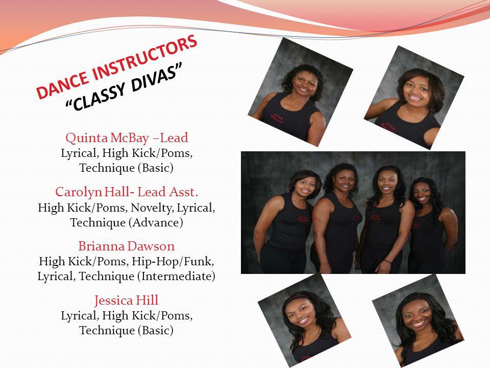DANCE INSTRUCTORS CLASSY DIVAS