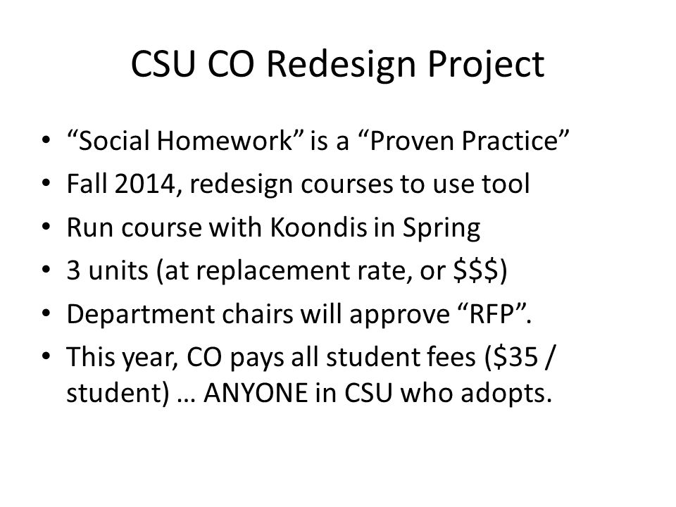 CSU CO Redesign Project