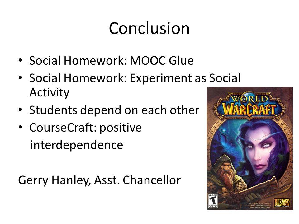 Conclusion Social Homework: MOOC Glue