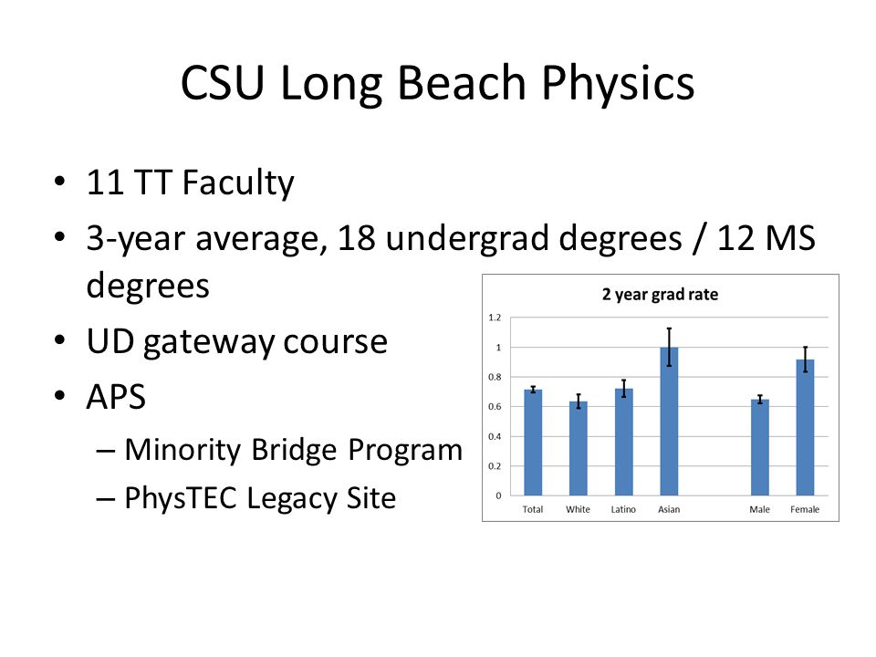 CSU Long Beach Physics 11 TT Faculty
