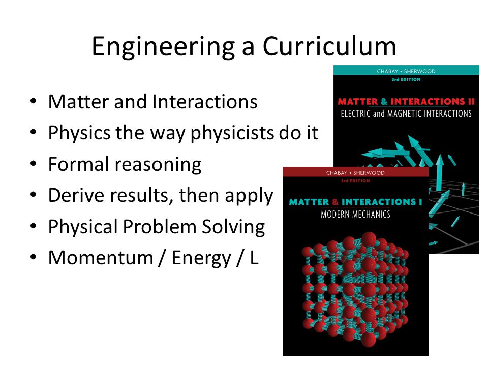Engineering a Curriculum
