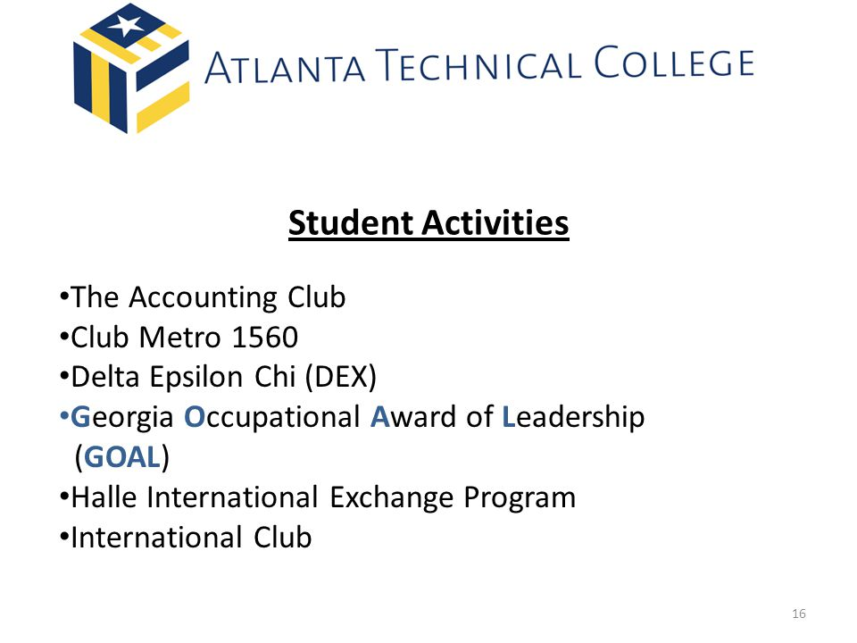 Student Activities The Accounting Club Club Metro 1560