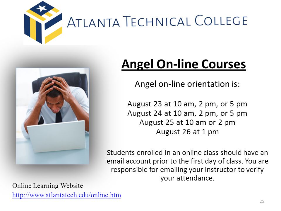 Angel on-line orientation is: