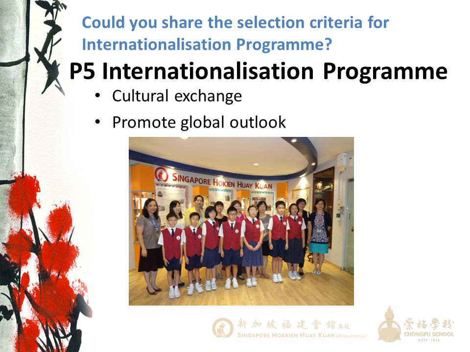 P5 Internationalisation Programme