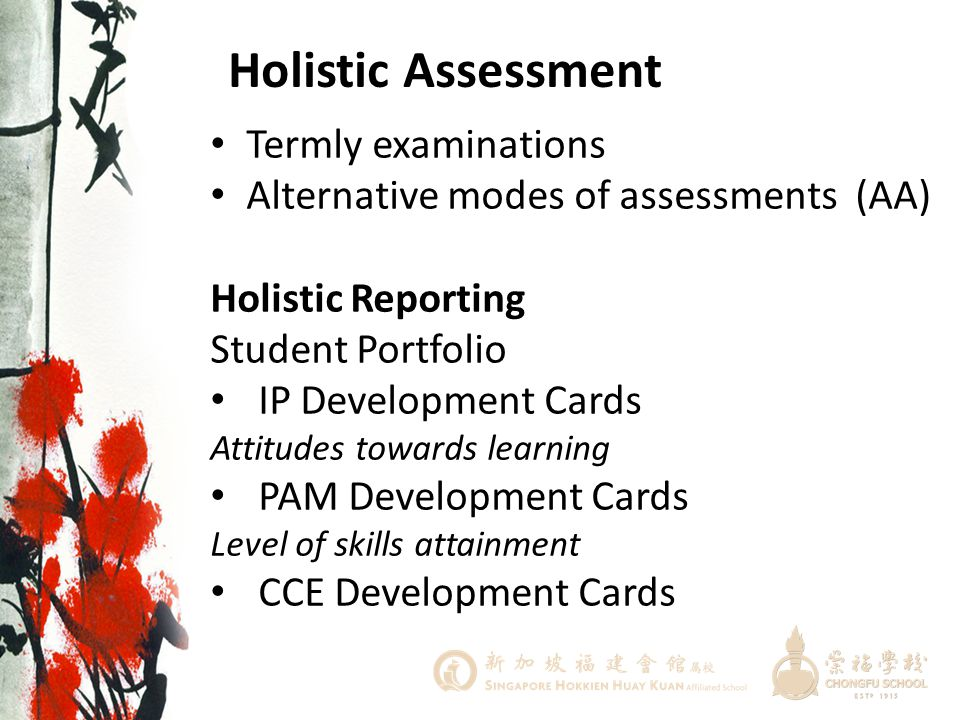 Holistic Assessment Termly examinations
