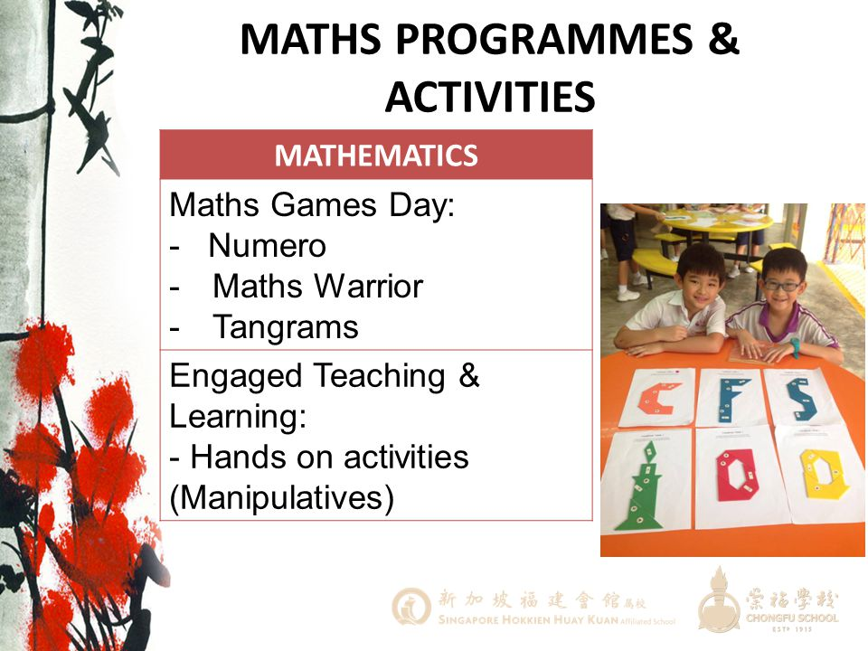 MATHS PROGRAMMES & ACTIVITIES