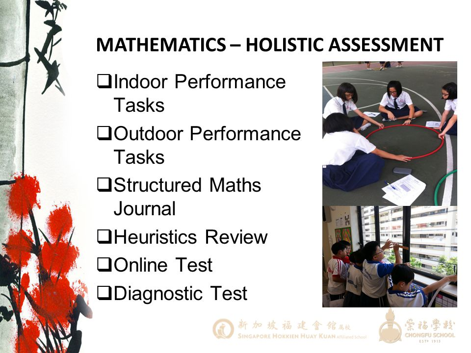 MATHEMATICS – HOLISTIC ASSESSMENT