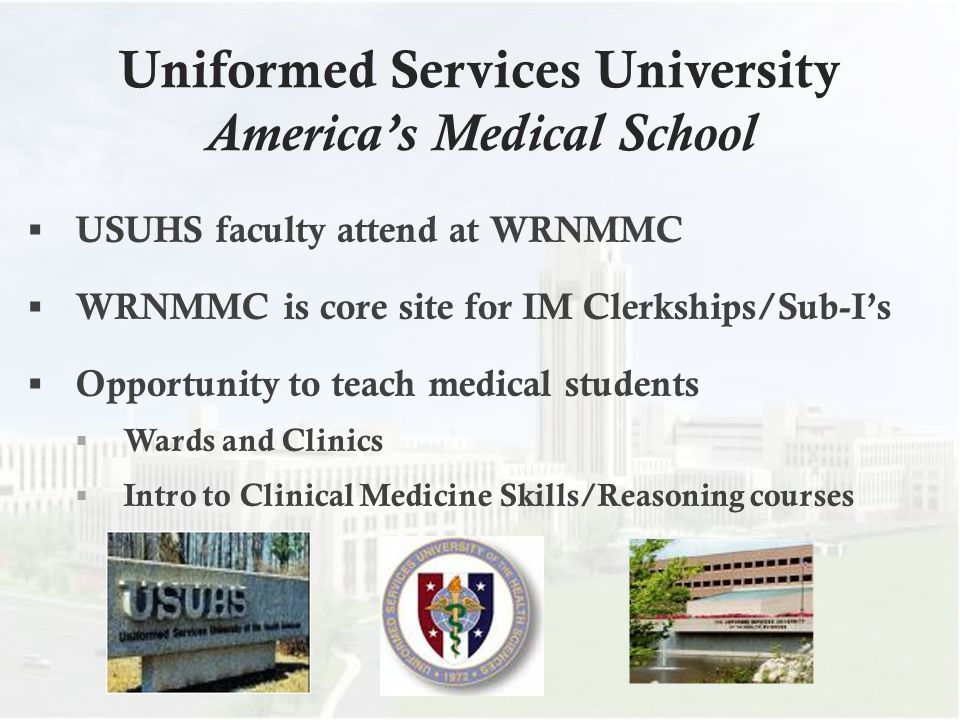 Uniformed Services University America's Medical School