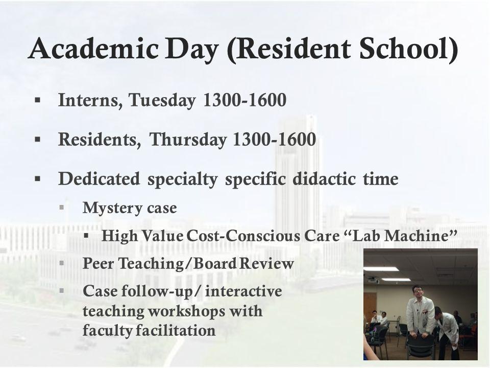 Academic Day (Resident School)