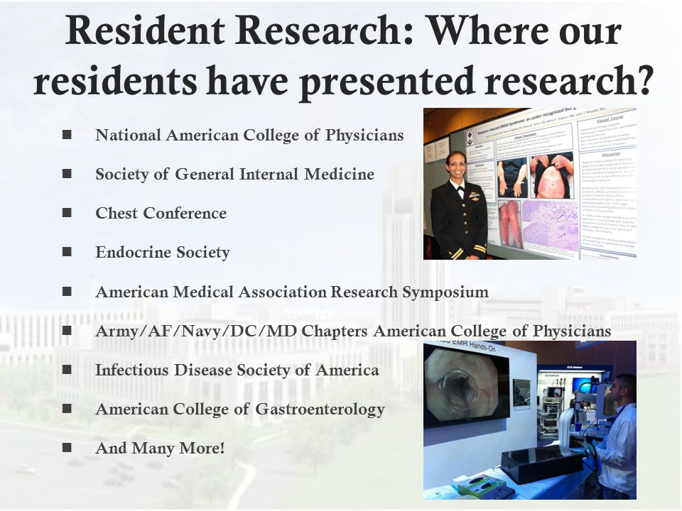 Resident Research: Where our residents have presented research