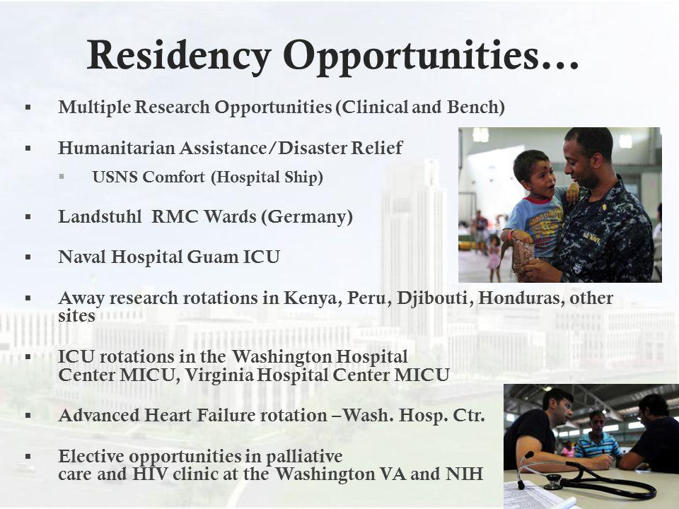 Residency Opportunities…