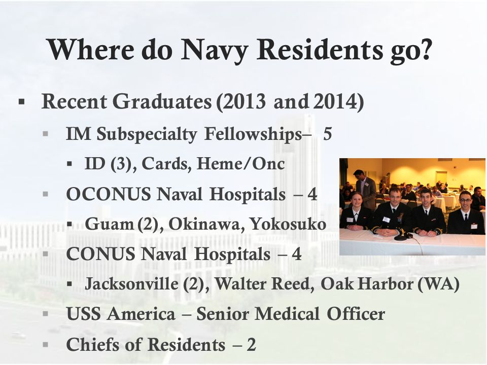 Where do Navy Residents go