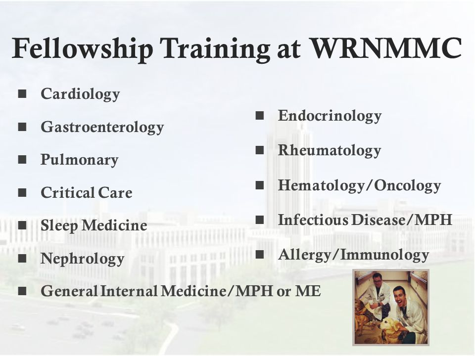 Fellowship Training at WRNMMC
