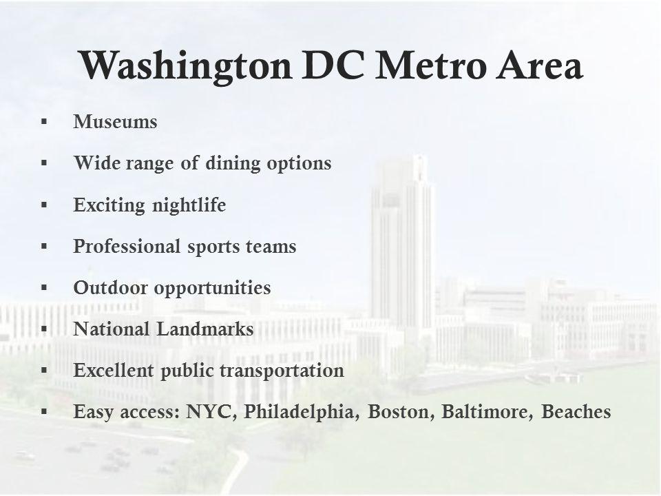 Washington DC Metro Area