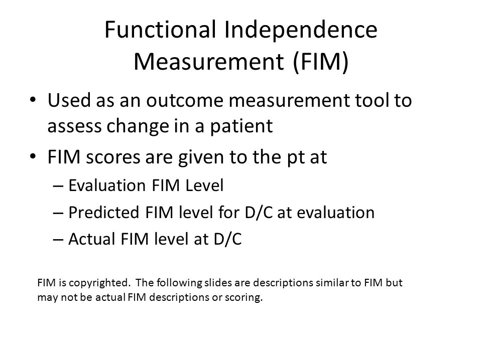 Functional Independence Measure Manual