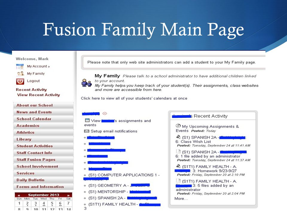 Fusion Family Main Page