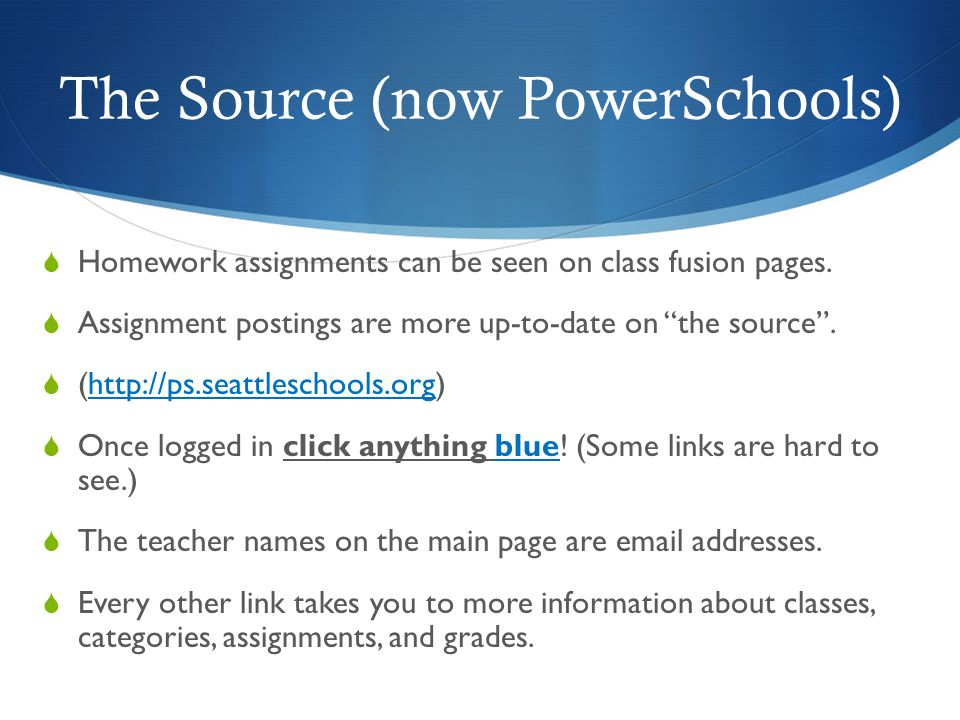 The Source (now PowerSchools)
