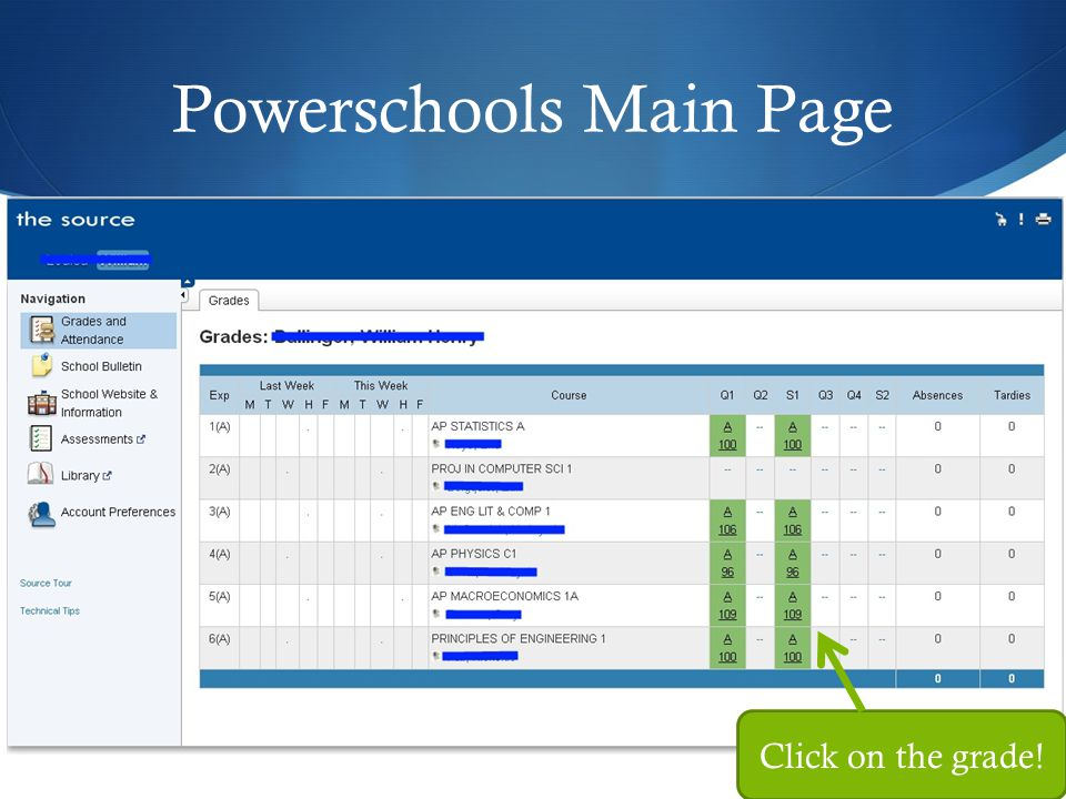 Powerschools Main Page