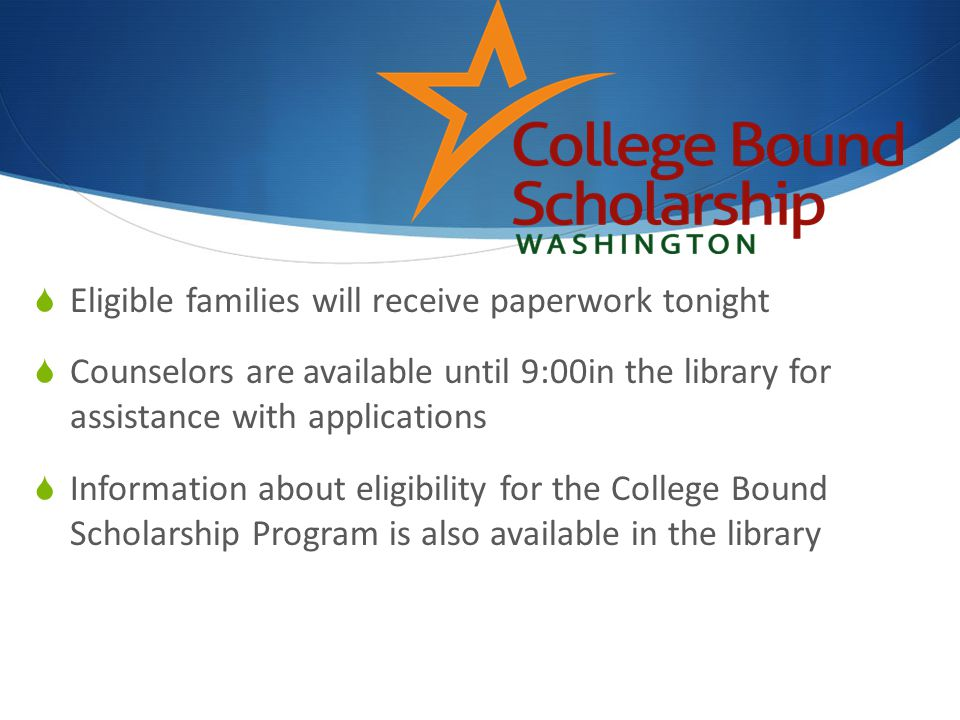 Eligible families will receive paperwork tonight