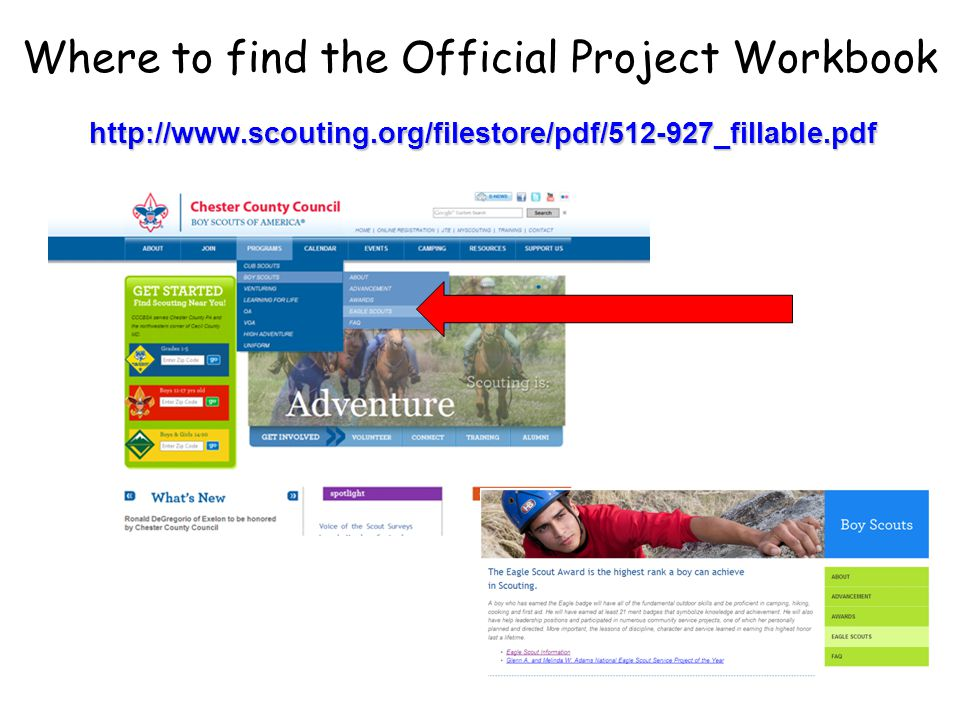Where to find the Official Project Workbook