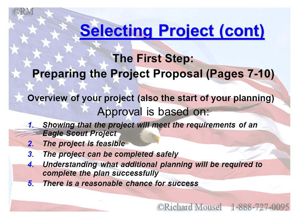 Selecting Project (cont)