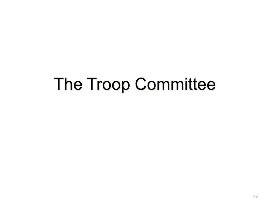 The Troop Committee