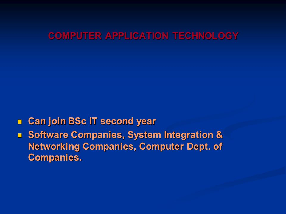 COMPUTER APPLICATION TECHNOLOGY