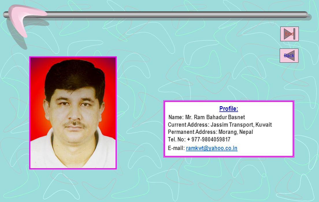 Name: Mr. Ram Bahadur Basnet