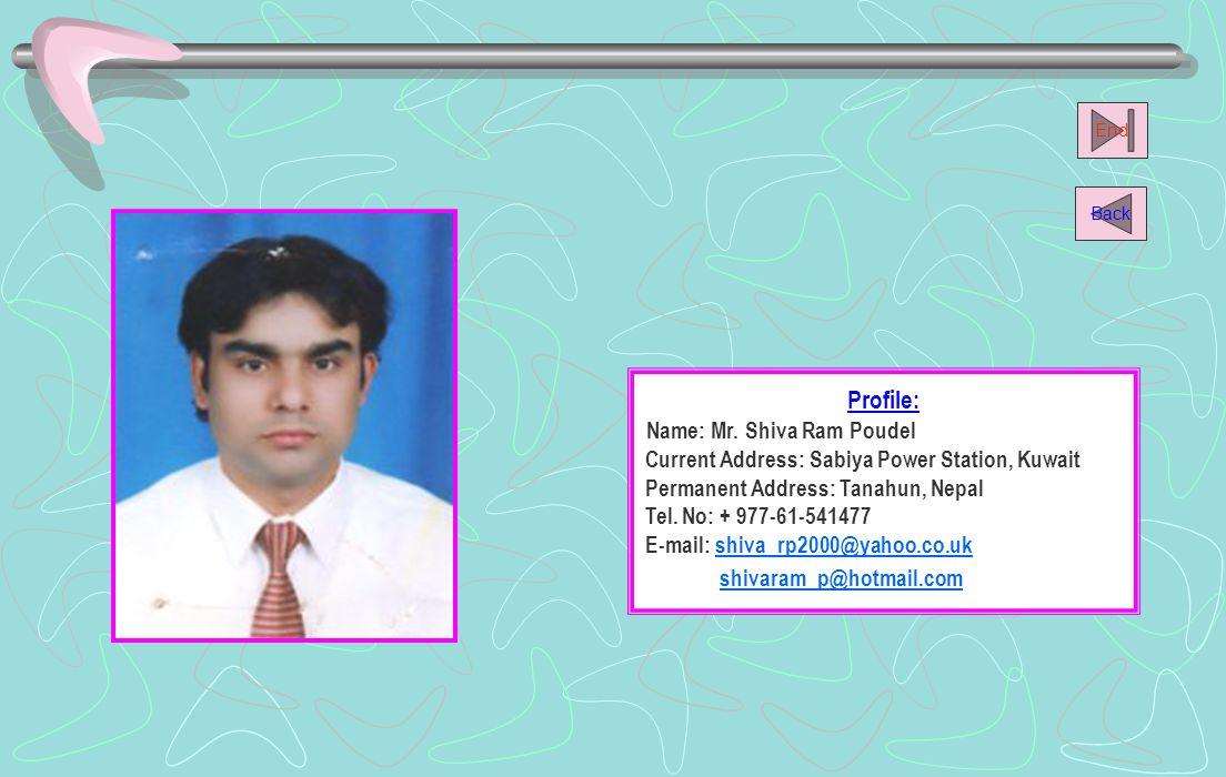 Name: Mr. Shiva Ram Poudel