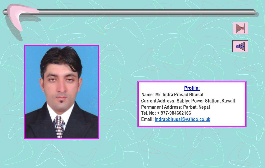 Name: Mr. Indra Prasad Bhusal