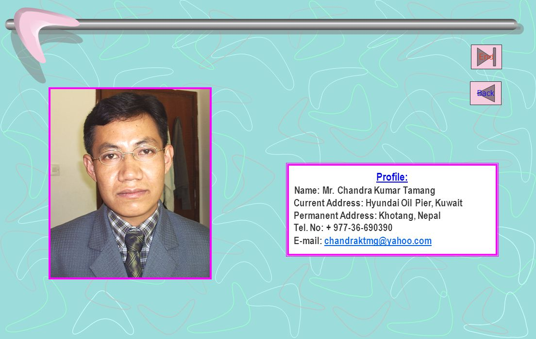 Name: Mr. Chandra Kumar Tamang