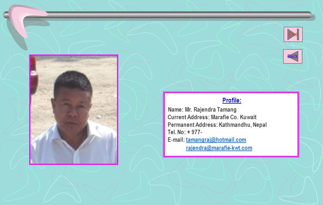 Name: Mr. Rajendra Tamang