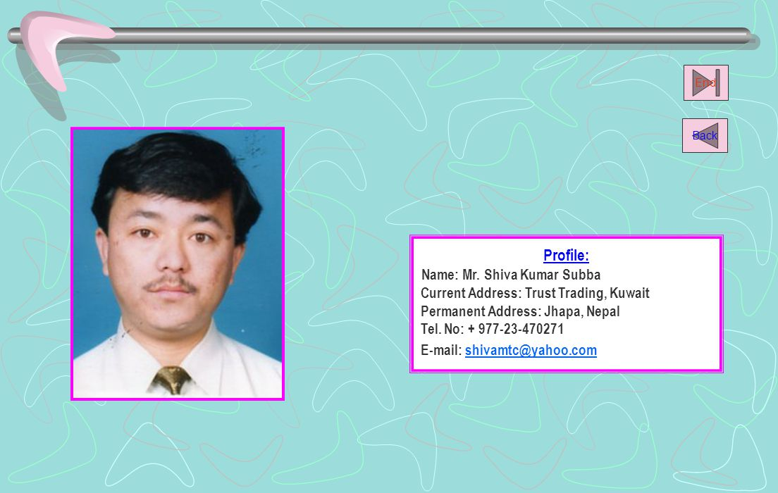 Name: Mr. Shiva Kumar Subba
