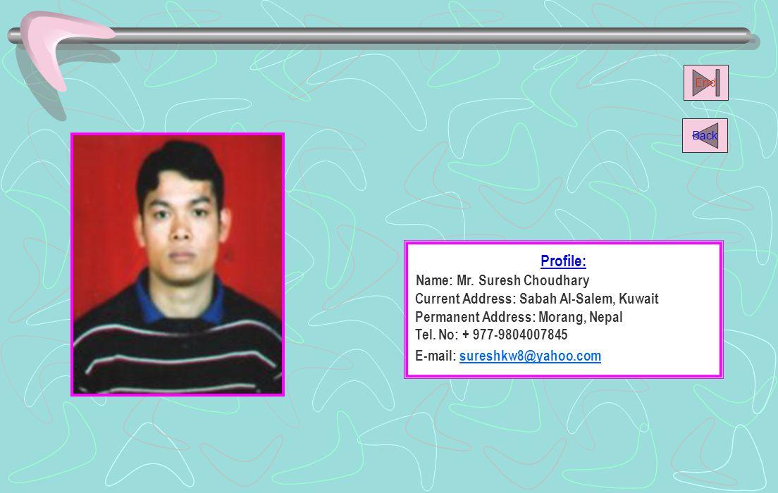 Name: Mr. Suresh Choudhary