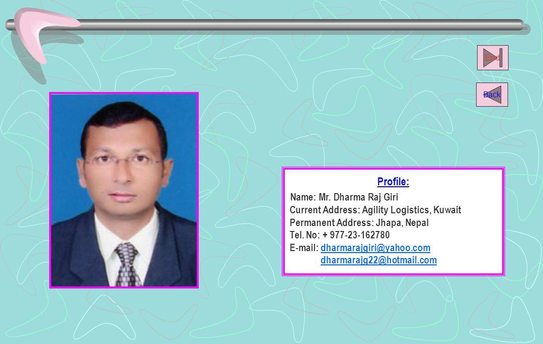 Name: Mr. Dharma Raj Giri