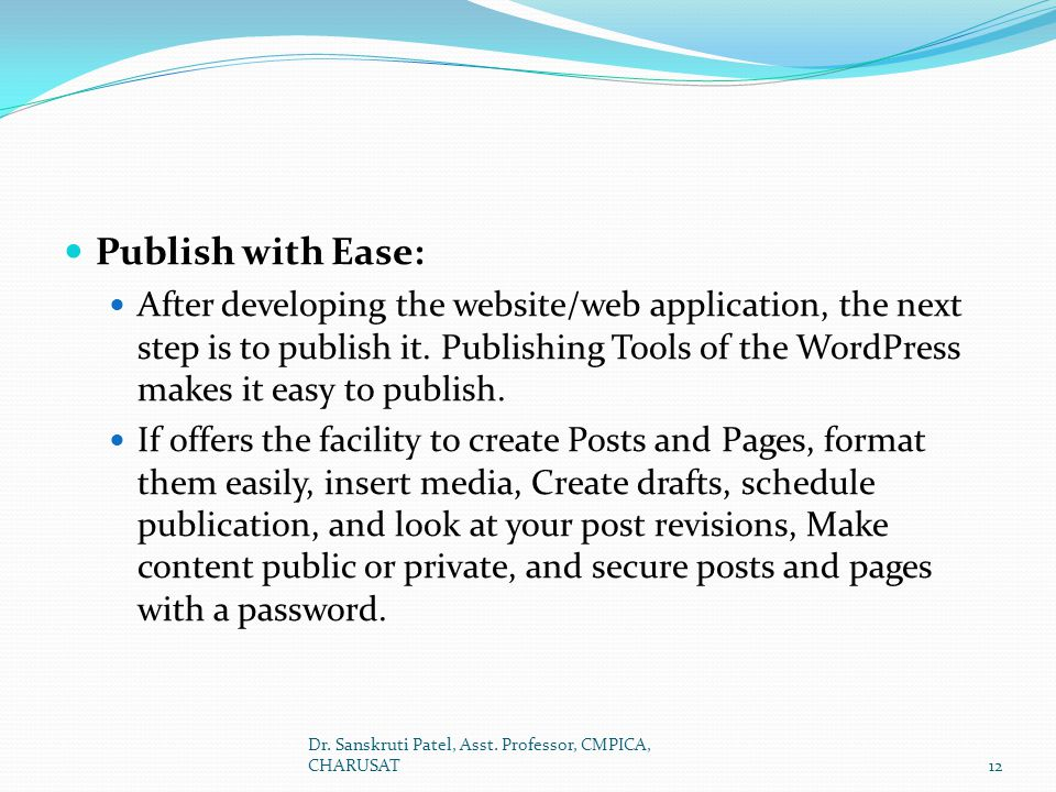 Publish with Ease: