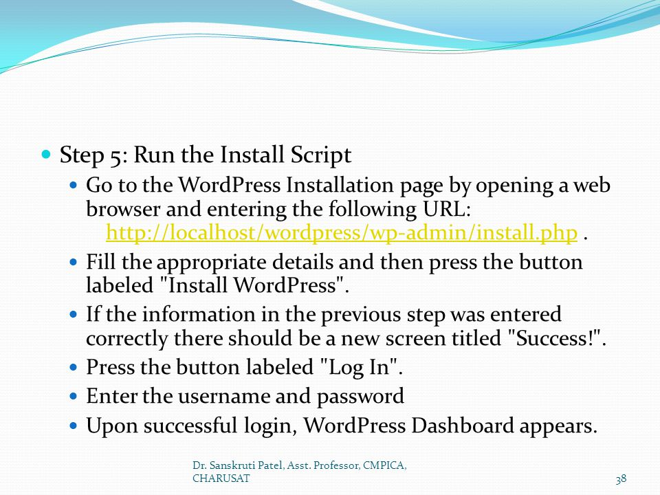 Step 5: Run the Install Script
