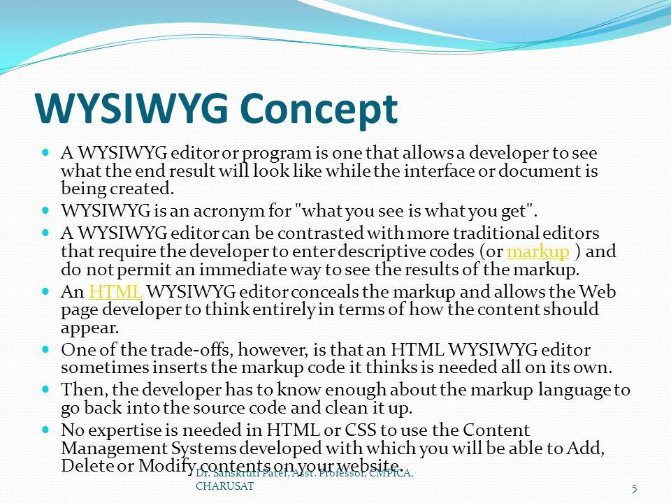 WYSIWYG Concept