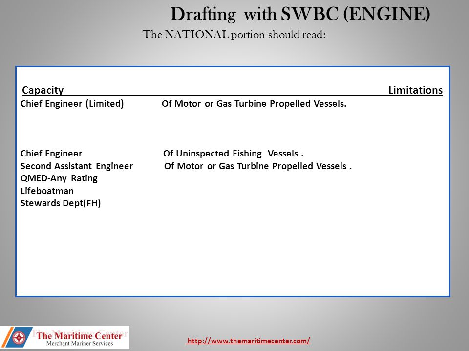 Drafting with SWBC (ENGINE)